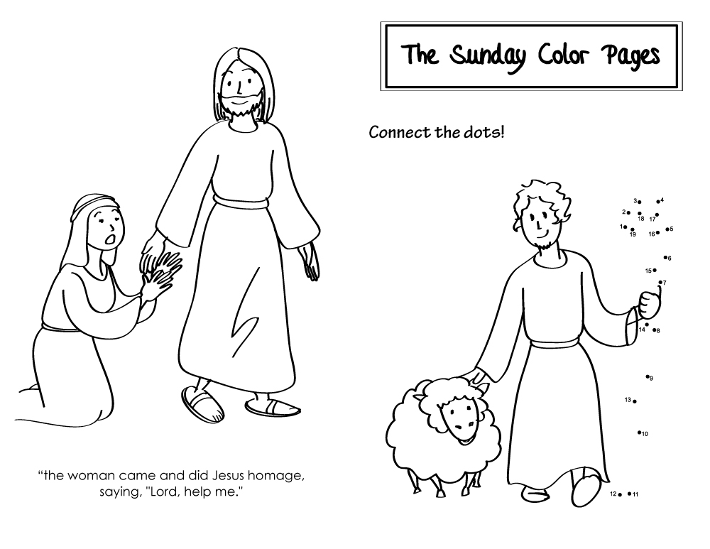20th Sunday in Ordinary Time Color Pages