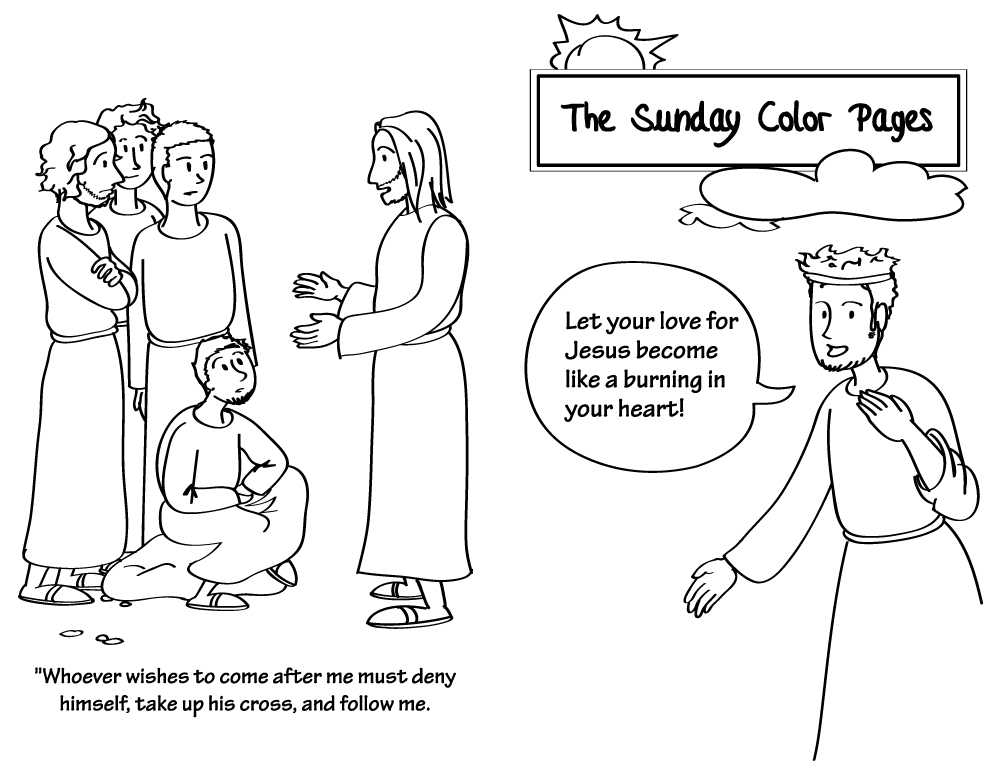 catholic ordinary time coloring pages - photo#4
