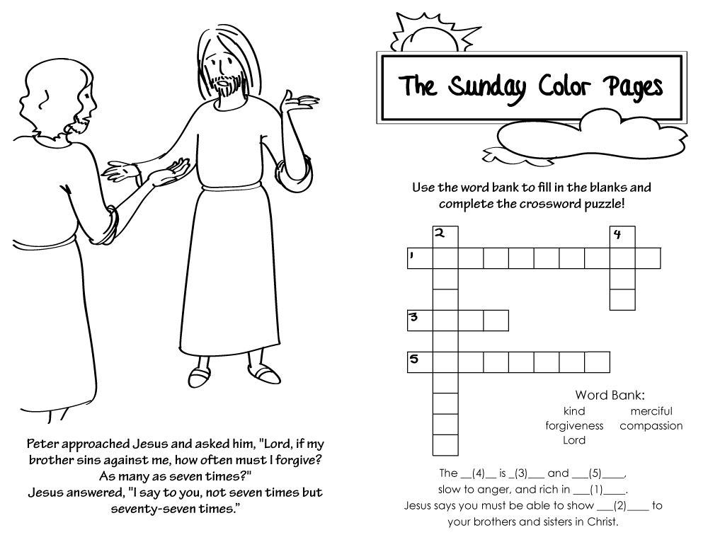 24th Sunday in Ordinary Time Coloring Pages