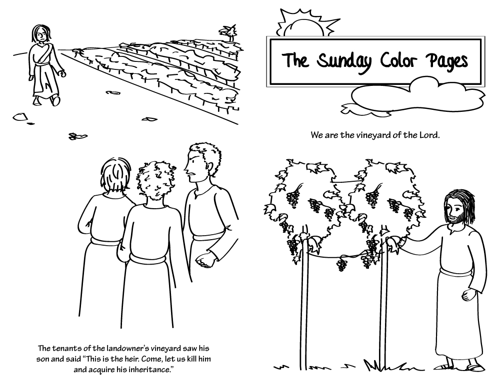 catholic ordinary time coloring pages - photo#9