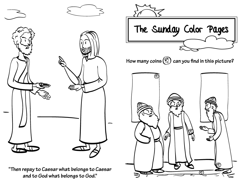 29th Sunday in Ordinary Time Coloring Pages