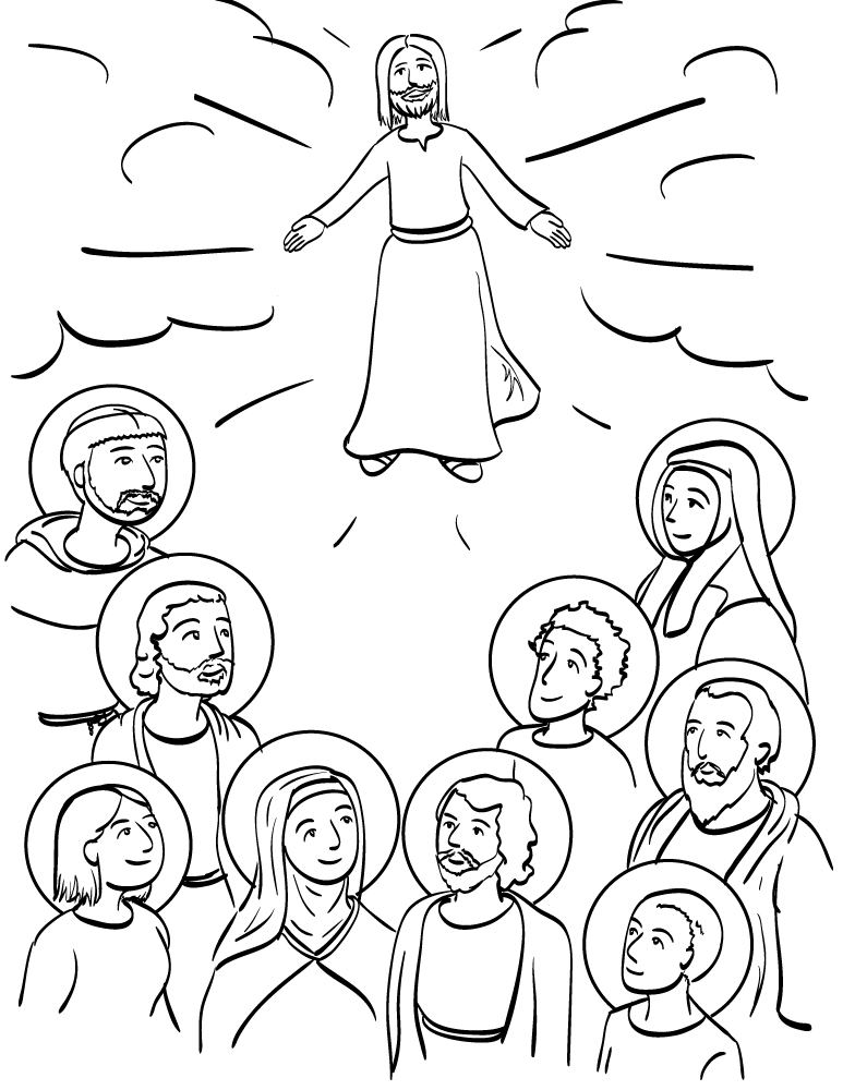 Communion of Saints Coloring Page