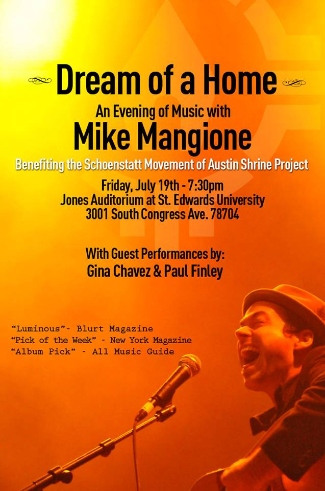 """Dream of a Home"" Mike Mangione Concert Fundraiser"