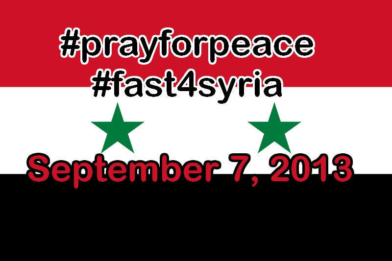 #prayforpeace and #fast4syria