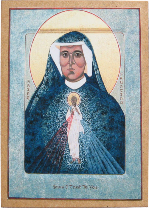 Icon of Divine Mercy and St Faustina